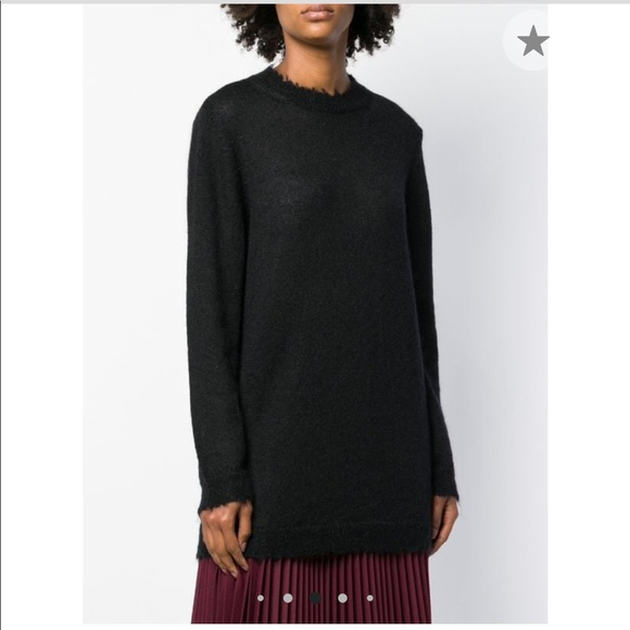 RED Valentino Sweaters - RED VALENTINO oversized long-sleeve sweater